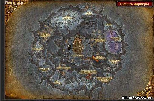 Светящийся дракон на карте
