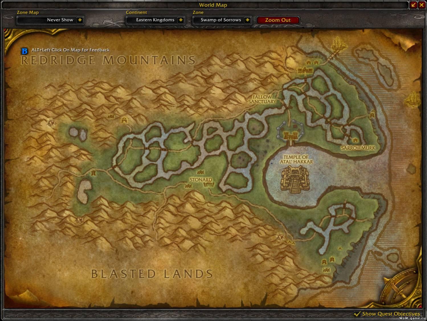 WoW: Cataclysm - карты некоторых местностей