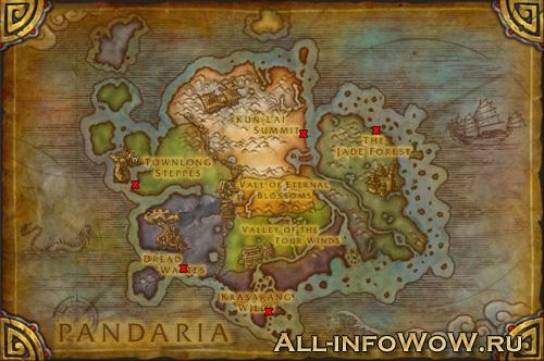 Карта спауна рарников
