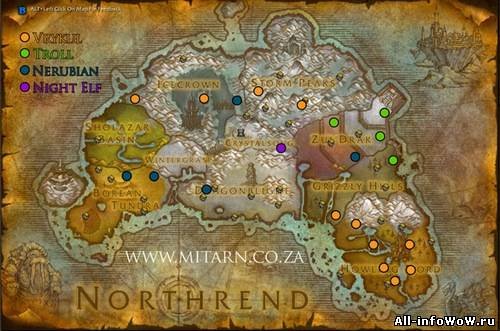 ВоВ археология карты