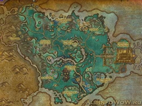 Карта с сокровищами Долины Призрачной Луны